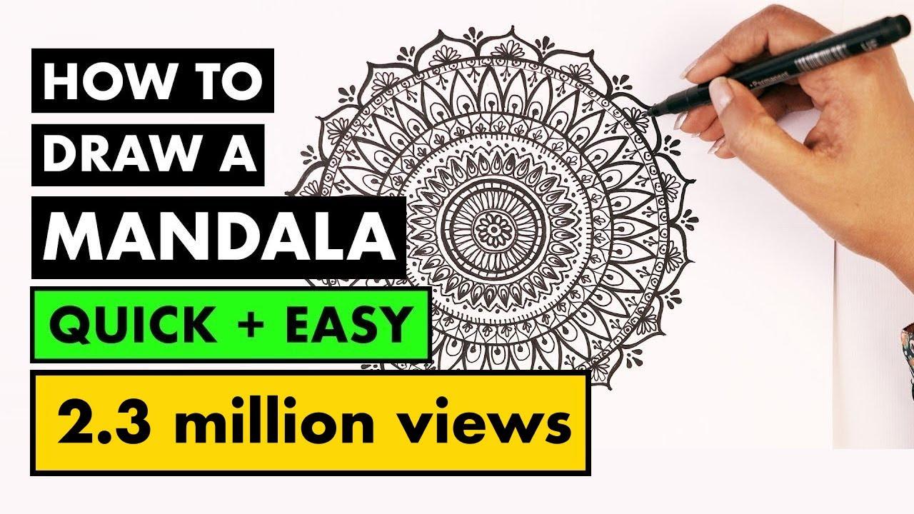 How To Draw Mandala Art For Beginners Vijayta Sharma Youtube