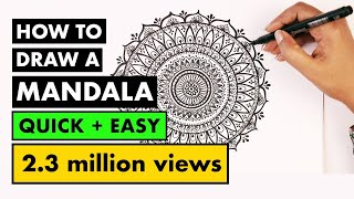 how to draw MANDALA ART for beginners