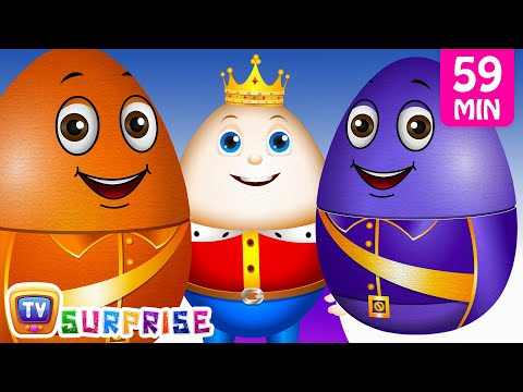 Thumbnail: Learn Colours with Surprise Nesting Eggs Nursery Rhymes Toys | Humpty Dumpty | ChuChu TV Field Trip!