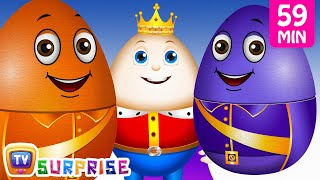 Learn Colours with Surprise Nesting Eggs Nursery Rhymes Toys | Humpty Dumpty | ChuChu TV Field Trip! thumbnail