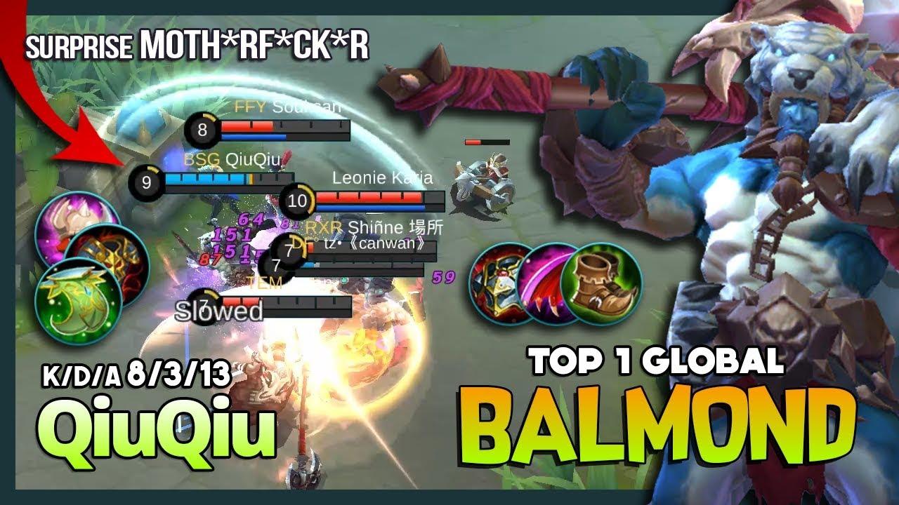 Savage Hunter of The Barbarian! QiuQiu Top 1 Global Balmond