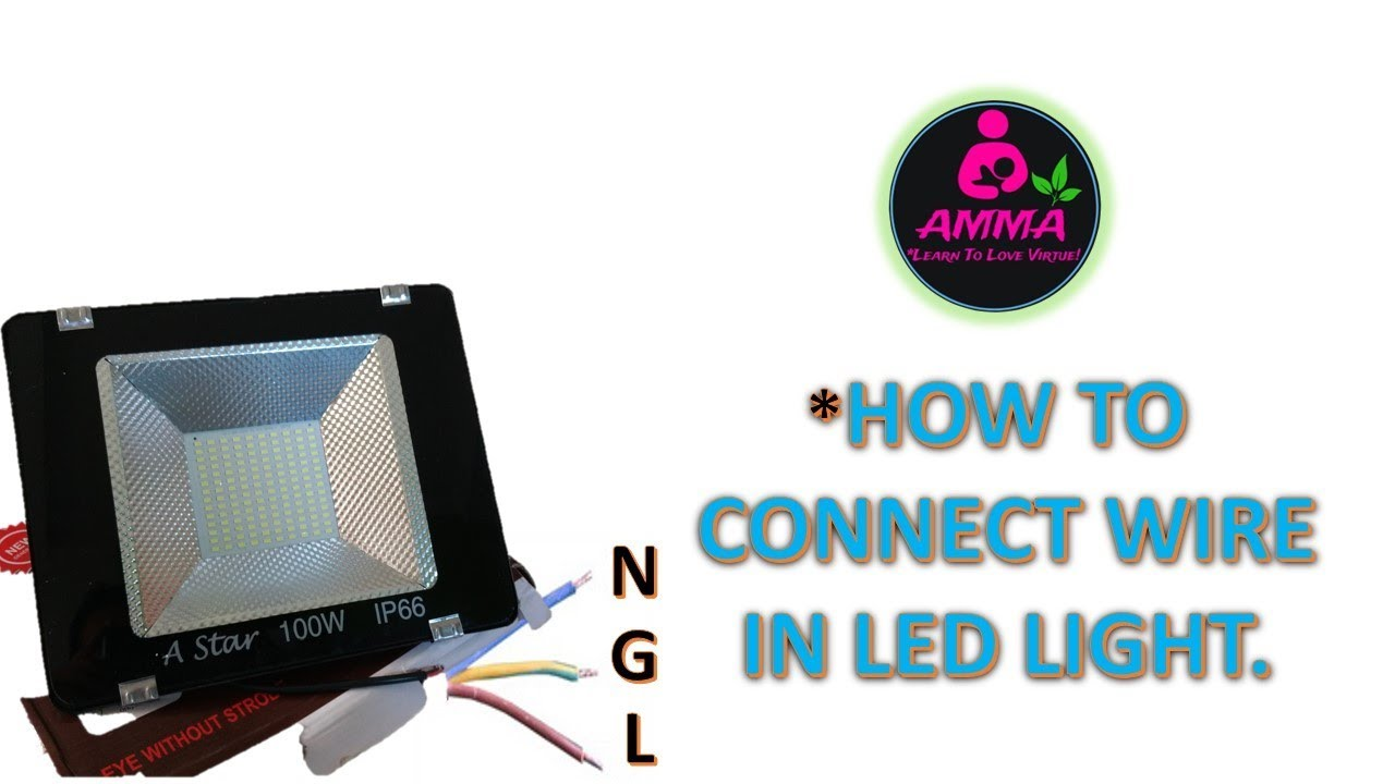 [CSDW_4250]   HOW TO CONNECT LED FLOOD LIGHT WIRE - YouTube | Led Floodlight Wiring Diagram |  | YouTube