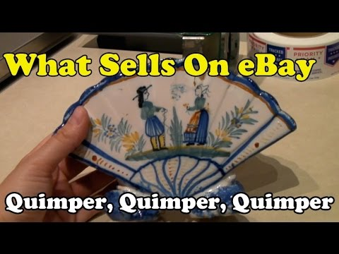 What Sells on eBay: Antique Tiger Oak Hall Tree, Craftsman Toolboxes, More Quimper Pottery