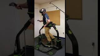 Malcolm on VR walking platform