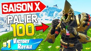 I've BEEN CHEATING WITH THE NEW SKIN -PALIER 100 OF COMBAT PAS ON FORTNITE SAISON X!