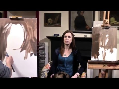 Portrait painting demonstration - Ewan McClure and Michael Samson