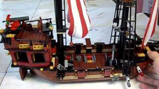 Lego Pirate Ship Mod Working Rudder And Crane Brickbeards Bounty 6243 Nachapon100328.avi