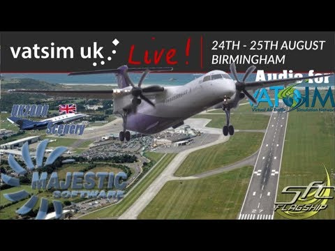 New Vatsim Voice Codec Beta Test. Majestic Q400 At Vatsim UK Live!