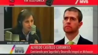 Aristegui deja en ridículo al Comisionado para la Seguridad de Michoacán, Alfredo Castillo