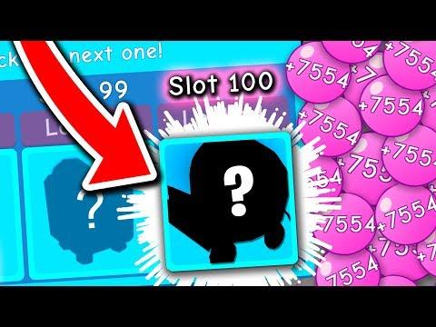 SLOT 100 REWARD (Roblox Bubble Gum Simulator)