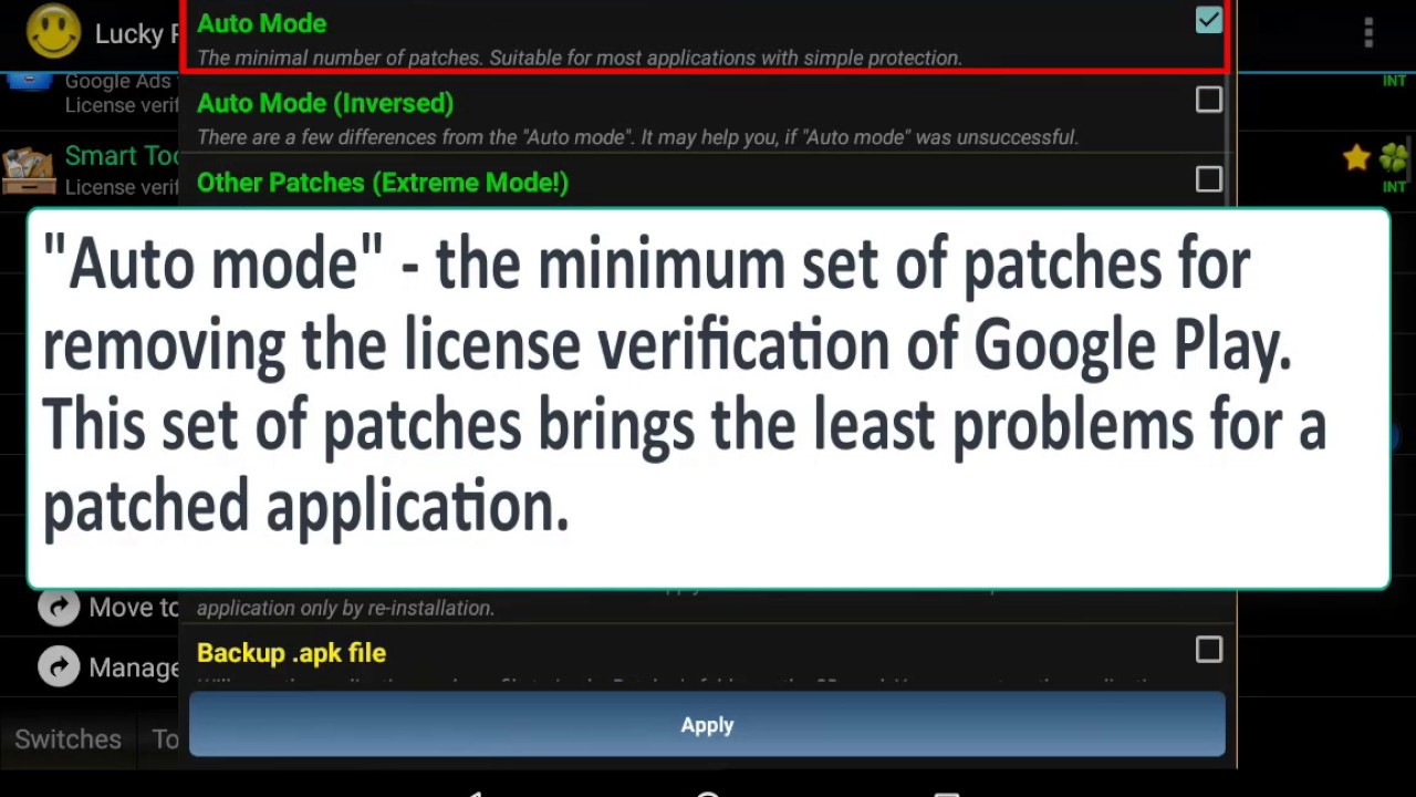 How To Remove License Verification Of Android Apps - Lucky Patcher