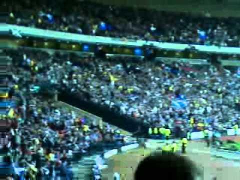 Scotland fans sing loch lomond