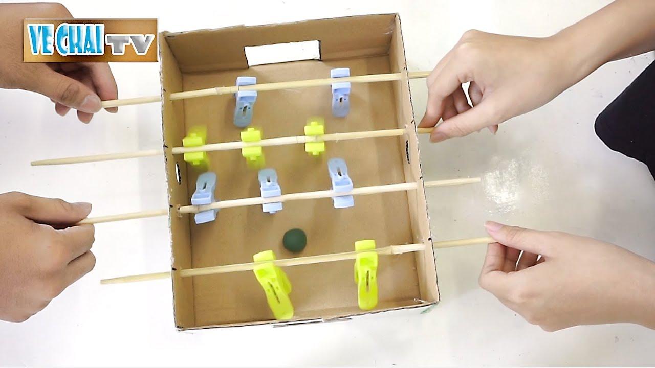 Tự làm đồ chơi banh bàn cho trẻ em cực đơn giản