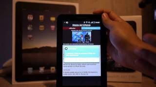 Folha de S. Paulo no iPad e Galaxy Tab - comparação