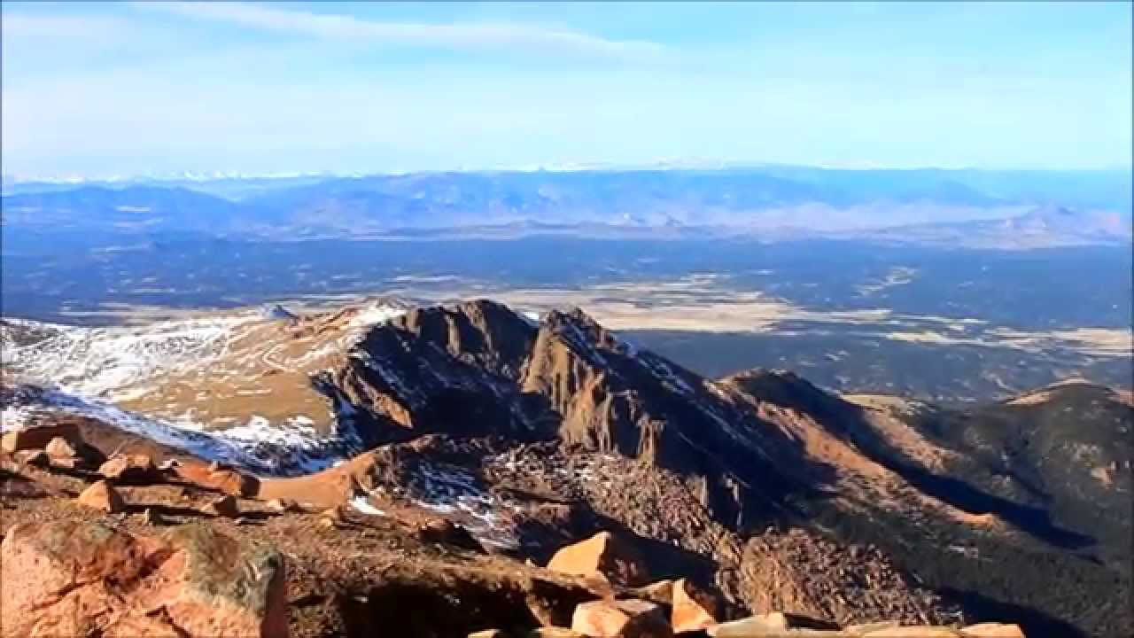 Panoramic View On Top Of Pikes Peak 1080p Hd
