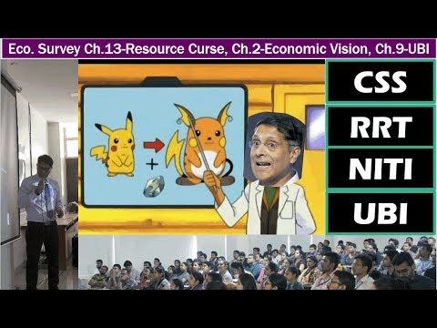 Eco. Survey Ch.13-Resource Curse, Ch.2-Economic Vision, Ch.9-UBI