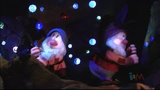 FULL Seven Dwarfs Mine Train at night with binaural audio and ending at Walt Disney World