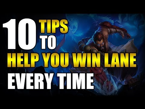 10 LESSER KNOWN TIPS TO WIN LANE EVERY TIME - League of Legends thumbnail
