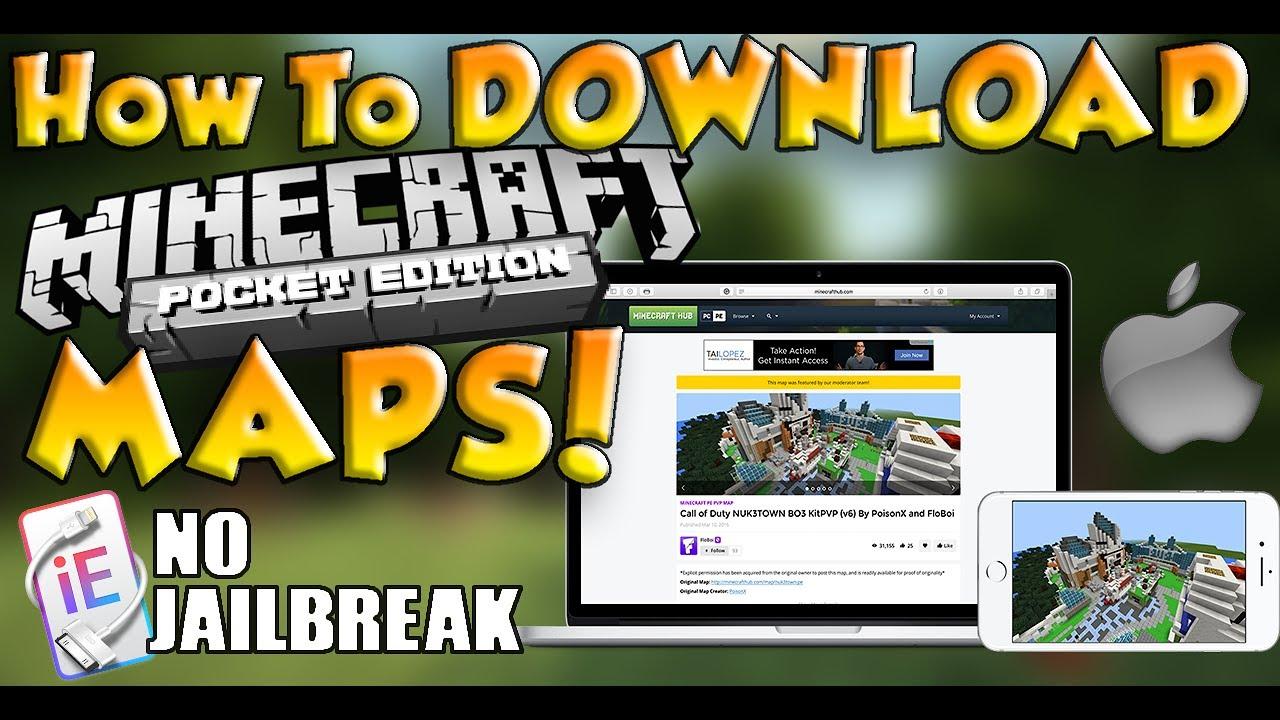 minecraft pe maps download mac
