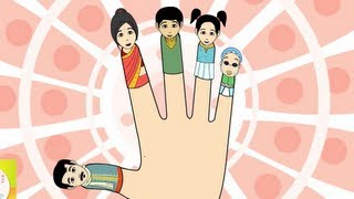 The Finger Family (Indian Family) Nursery Rhyme | Cartoon Animation Songs For Children