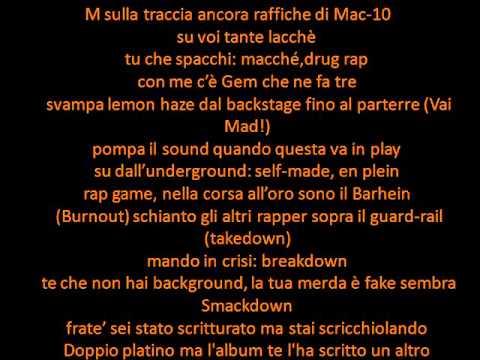 Rocco Hunt Ft Gemitaiz,Madman e Nitro - The Show(Testo)(2014)