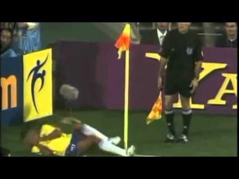 Rivaldo acting fail - World Cup 2002 Oscar winning performance