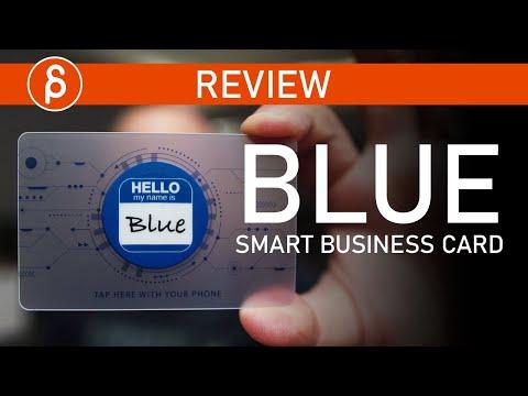 Blue Smart Card - Business Card Tech Review
