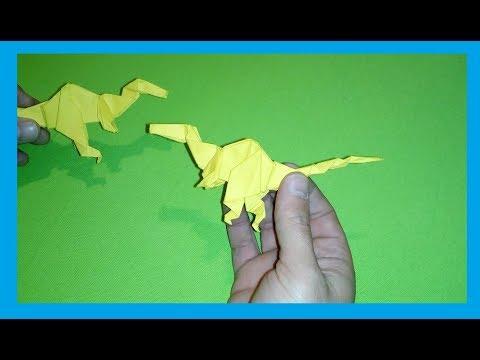 Origami Velociraptor (Very Easy) | Origami velociraptor, Origami ... | 360x480