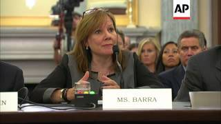 General Motors CEO Marry Barra defends her legal staff at a congressional hearing for their poor res