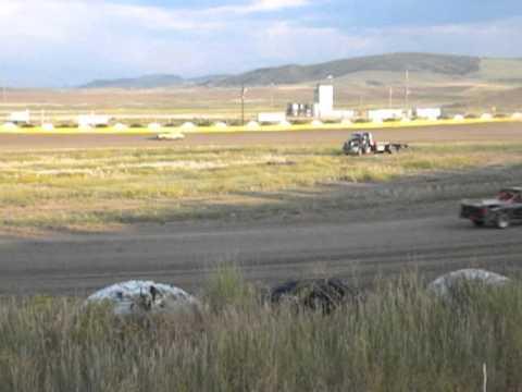 Hayden Speedway Mini Stock Heat #1 - 8/9/14