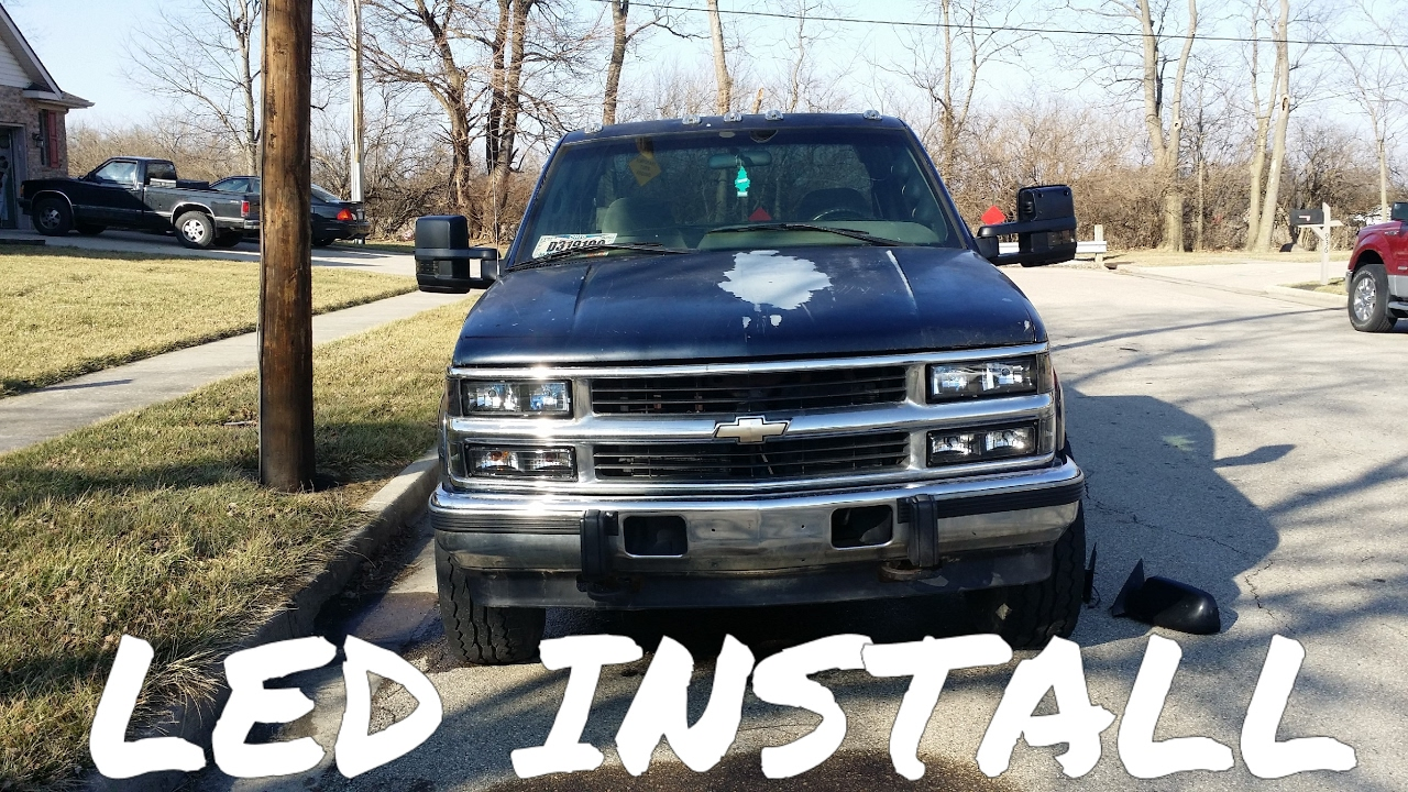 hight resolution of obs chevy led light install part 1 88 98