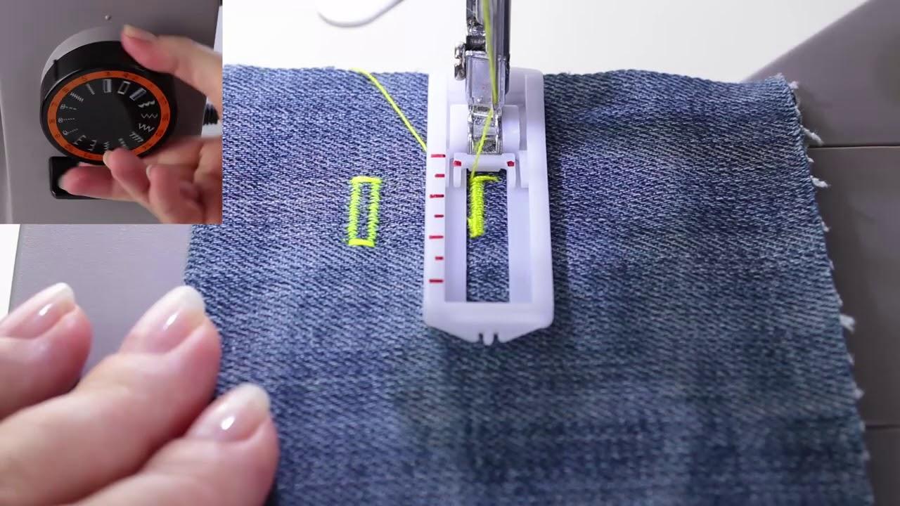 Тестируем швейную машину для пошива джинсы Toyota Power Fabriq 17