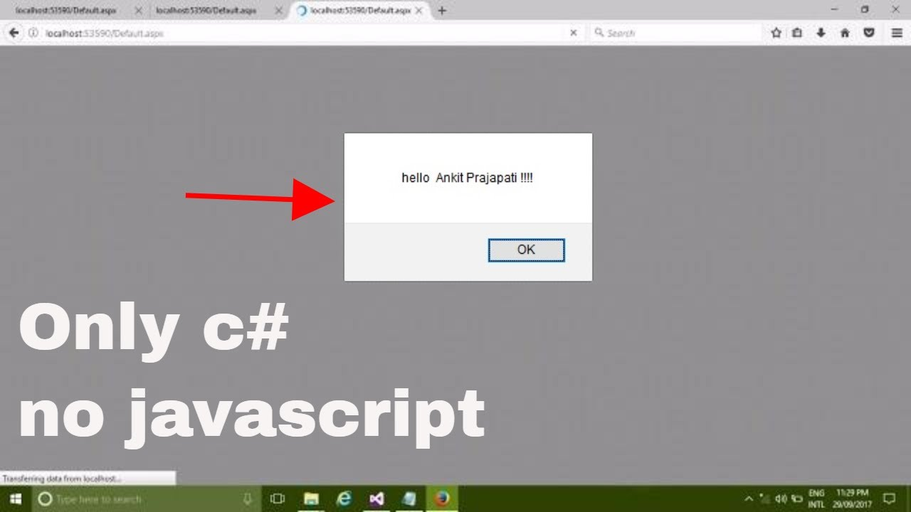 How to Show Popup MessageBox in Webform or Webpage in Asp net c#