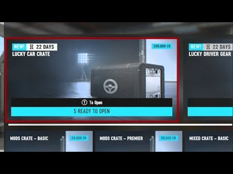 Forza Motorsport 7 Opening x15 Crates LARGE MYSTERY/ LUCKY CAR CRATES