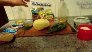 Полезный и очень вкусный весенний салат [Шпинат, капуста, сухарики]