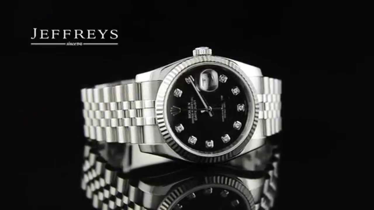 Rolex Watch Datejust 36mm Stainless Steel Fluted Bezel