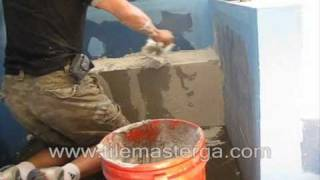 "Part 2 . How To Build & Waterproof Shower Bench ""seat"" - Installation From Scratch - Cement Blocks."