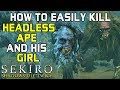 SEKIRO BOSS GUIDES - How To Easily Kill The Two Apes! (Headless & Brown Guardian)