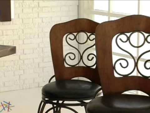 Grayson Swivel Counter Bar Stool Antique Steel - Product Review Video