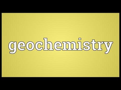 Geochemistry Meaning