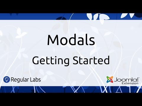 Modals   Getting Started