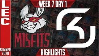 MSF vs SK Highlights | LEC Summer 2020 W7D1 | Misfits Gaming vs SK Gaming