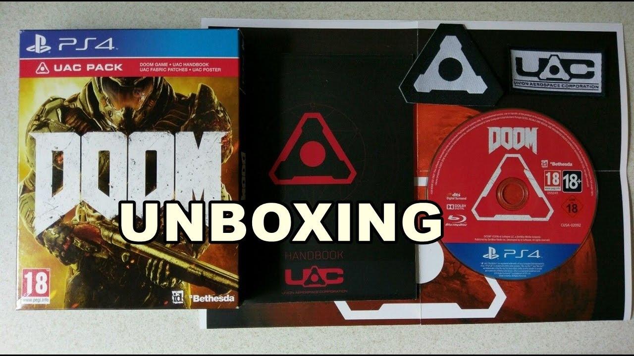doom uac pack unboxing ps4 youtube. Black Bedroom Furniture Sets. Home Design Ideas