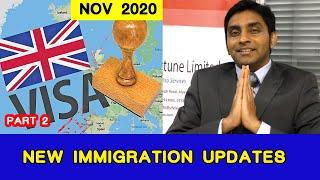 Tier – 2 immigration updates UK – 2021