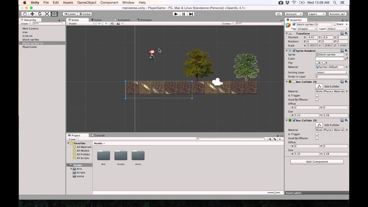 8 Unity 2d Adding Collision To The Player جاذبية Youtube