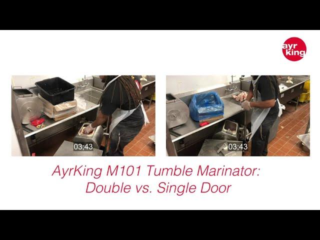 AYRKING TUMBLE MARINATOR: DOUBLE DOOR VS. SINGLE DOOR DRUM