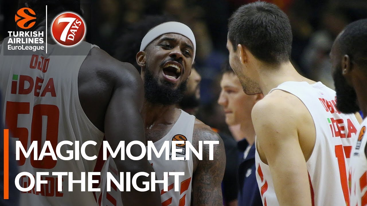 7DAYS Magic Moment of the Night: Lorenzo Brown, Crvena Zvezda mts Belgrade