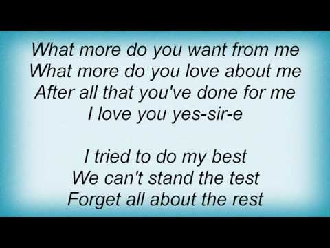 Al Green - What More Do You Want From Me Lyrics