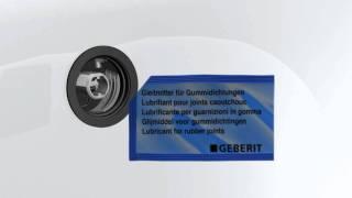 Geberit installatie voor Push controle bad sifon.