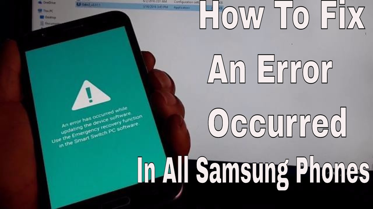 How To Fix An Error Occurred while updating the device software on samsungs  phones By ODIN